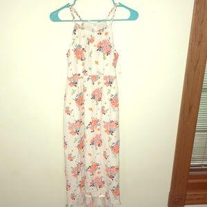 Girls xl white sundress with bright orange flowers